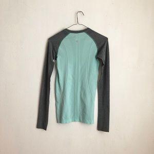 lululemon athletica Tops - lululemon blouse swiftly tech long blue & gray